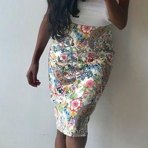 Catherine Malandrino Beautiful Floral Pencil Skirt